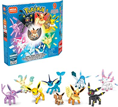 Mega Construx Pokémon Pack de evoluciones Eevee, juguete de ...