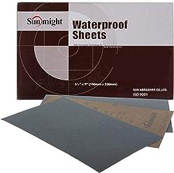 Sunmight 08119 2-3//4 x 25 yd 800 Grit Waterproof Plain Sheet