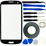 ECO-FUSED Replacement Screen for Samsung Galaxy S3 9300with Clamp/Adhesive Repair Kit/Microfiber Cloth/Black