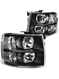 DNA Motoring HL-OH-CSIL07-BK-CL1 Headlight (Driver and Passenger Side) [for 07-14 Chevy Silverado]