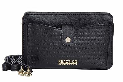 34facd79465 Kenneth Cole Reaction KN1868 Alpine Mini Cross Body Bag (BLACK EMBOSS)