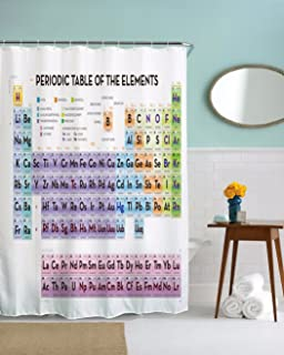 Getdigital periodic table shower curtain amazon kitchen home anamour periodic table of elements waterproof mildew resistant polyester fabric shower curtain for chemistry urtaz Choice Image
