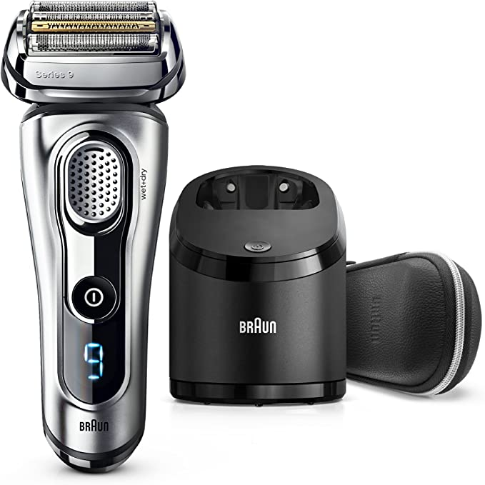 Braun Series 9 9291cc Wet&Dry Máquina de afeitar de láminas Recortadora Plata - Afeitadora (Máquina de afeitar de láminas, Plata, Batería, 100-240, 157 mm, 157 mm ...
