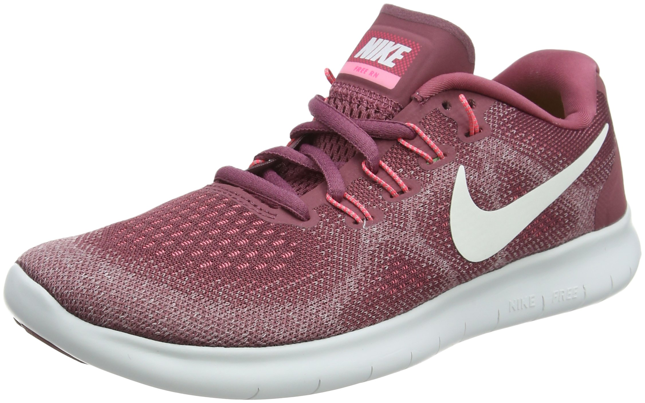 Nike Free RN 2017 Women's Running Shoes (5.5 M US, Vintage Wine/Off White)