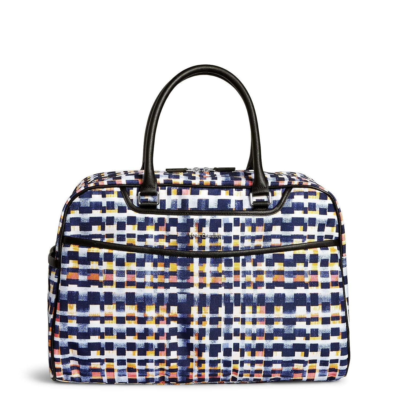 12d20b90c Amazon.com: Vera Bradley Iconic Weekender Travel Bag, Microfiber, Abstract  Blocks: Clothing