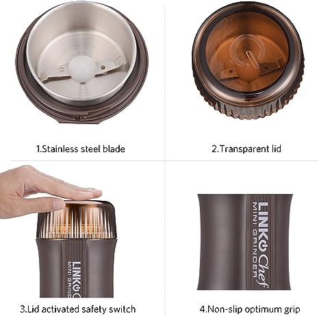 Amazon.com: Molinillo de café eléctrico con molinillo de ...