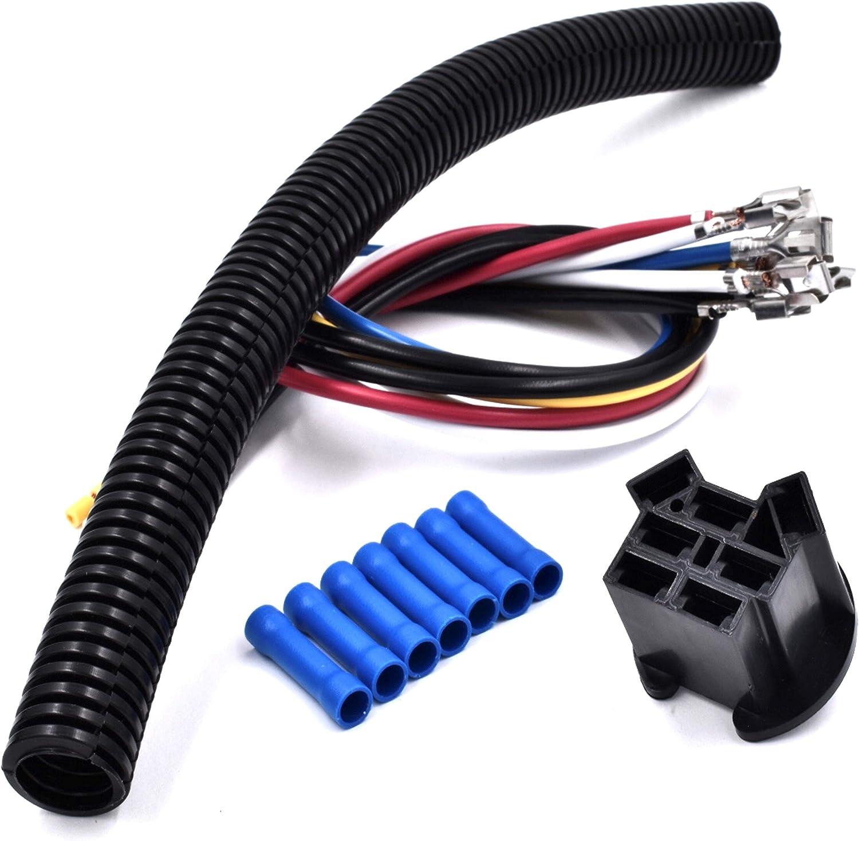 HD Switch Starter Ignition Switch Wire Harness Repair Kit Replaces John Deere Mowers LA100 LA105 LA110 LA115 LA120 LA125 LA130 LA135 LA140 LA145 LA150 LA155 LA165 LA175 Garden Tractor