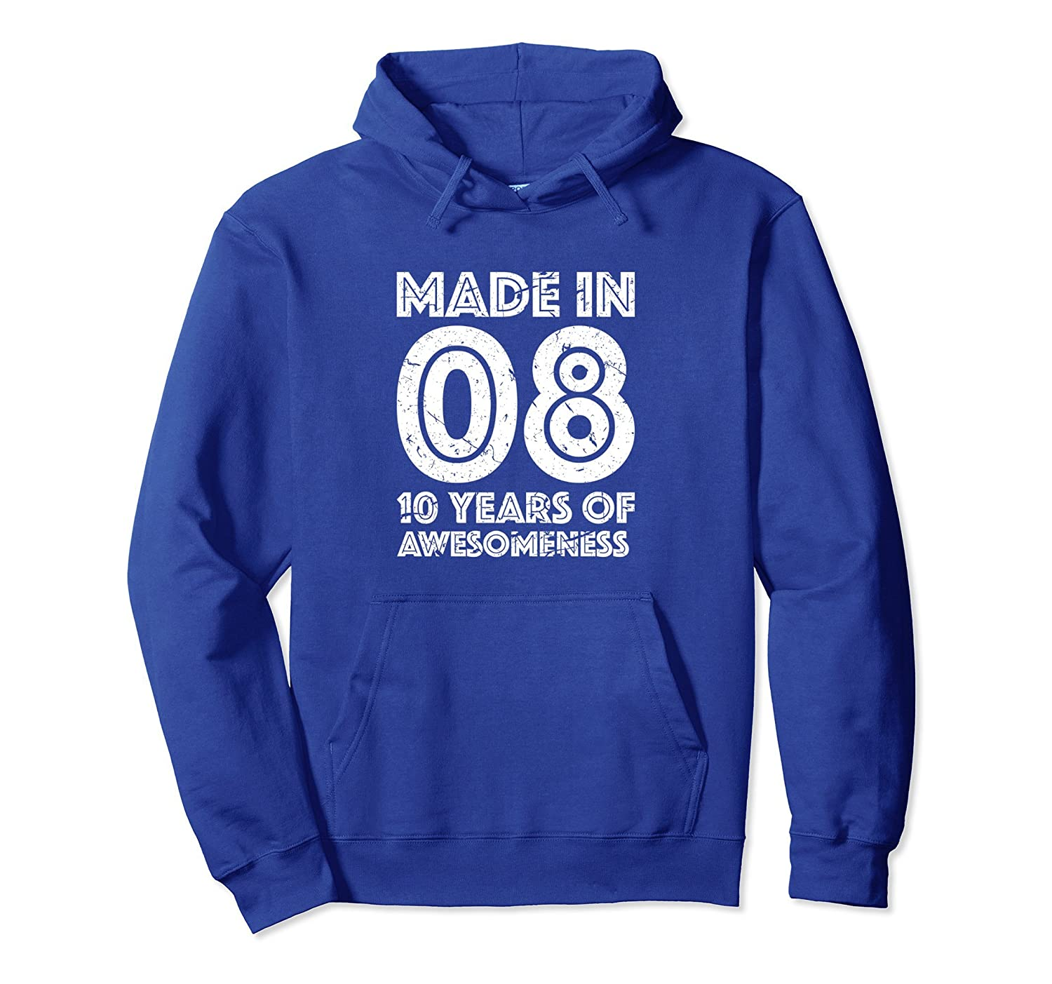10th Birthday Hoodie Girl Boy Gift Age 10 Ten Year Old-TH
