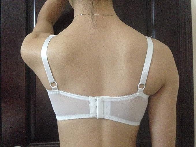 Transparent en dentelle Soutien-gorge de poche pour Mammaires en silicone  formes pour Mastectomie Silicone Faux Boob blanc blanc 36E  Amazon.fr   Beauté et ... d8c85889aea