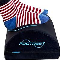 Foot Rest Under Desk with 2 Adjustable Height, Office Footrest Pillow Velvet Footrest Cushion, Non-Slip Bottom Footstool…
