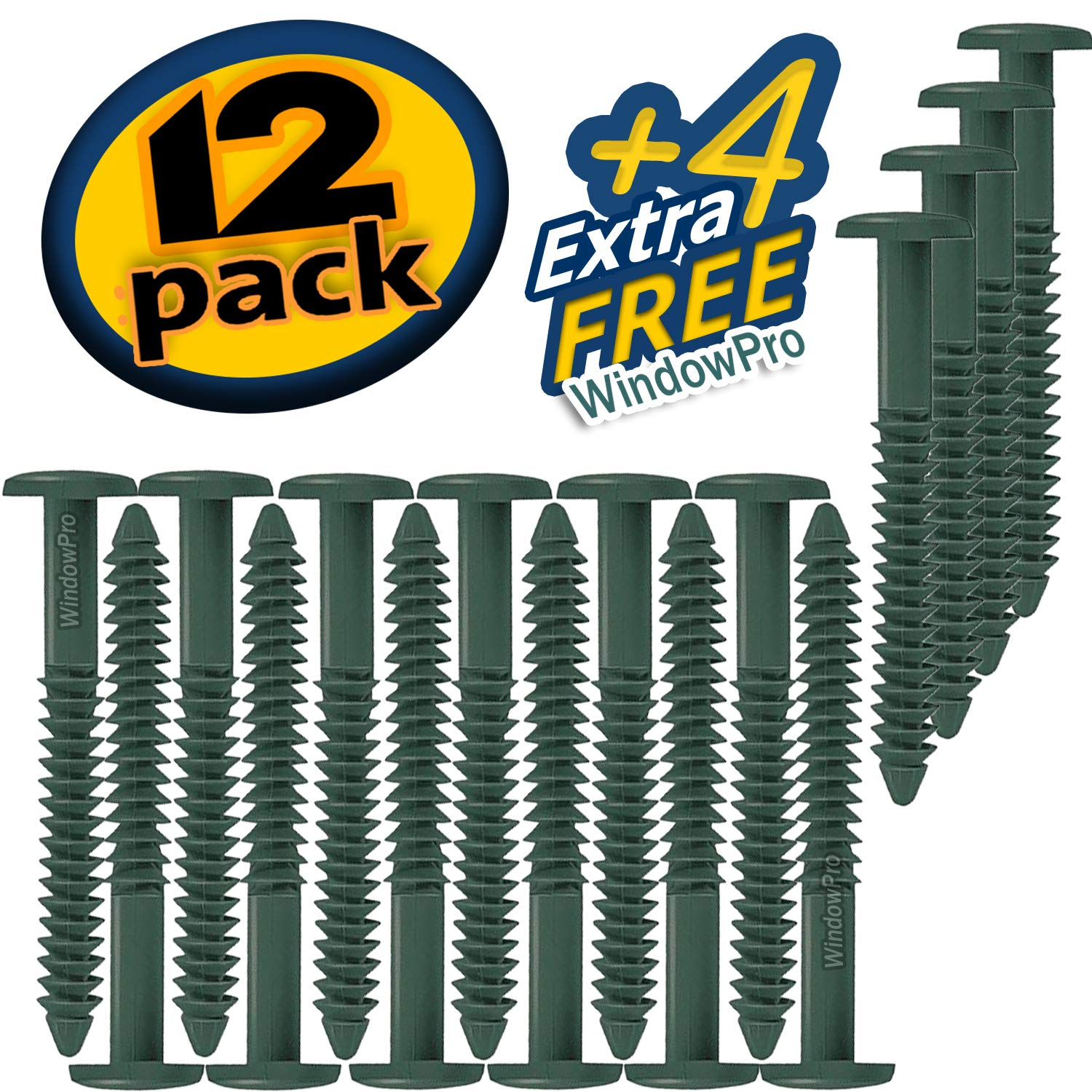 Window Shutters Panel Peg Loks 3 inch 12 pack Forest Green Buy One Bag of 12 Loks and Get 4 Extra Shutter Peg Loks FREE
