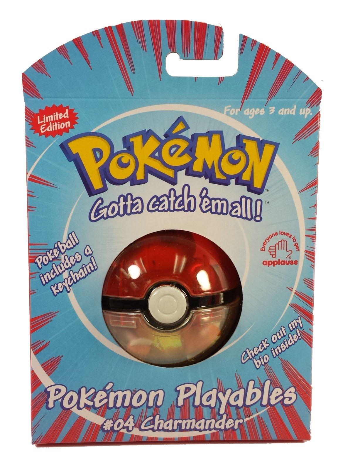 POKEMON Playables #04 Charmander Pokeball with Keychain