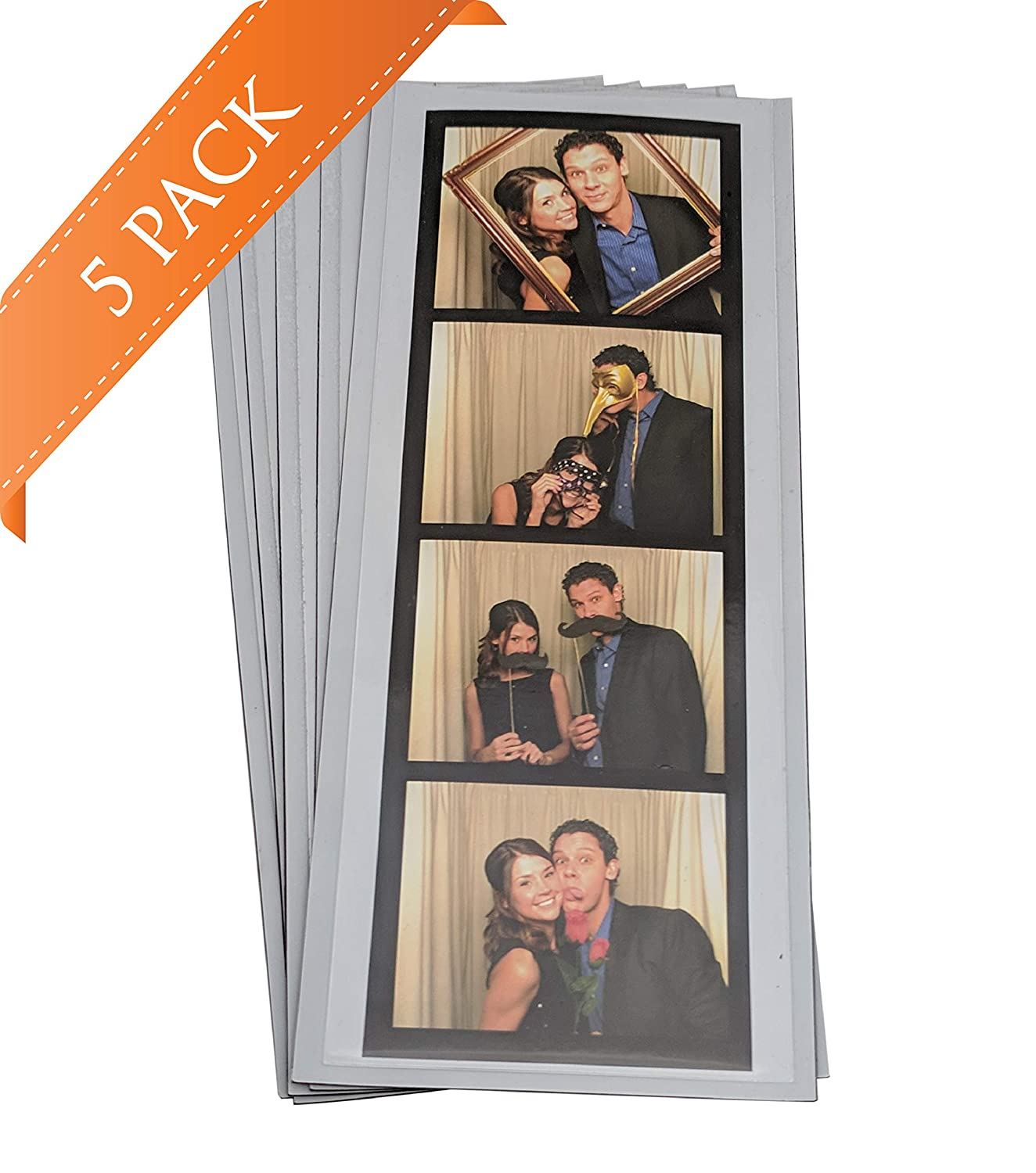 5 Vinyl Magnetic Photo Booth Frames 2'x6' Photo Booth Nook 6VM