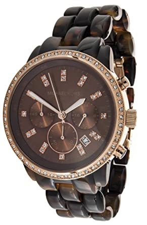 a1fc08f40346 Michael Kors Women s MK5366 Showstopper Classic Chronograph Tortoise Watch  Michael  Kors  Amazon.ca  Watches