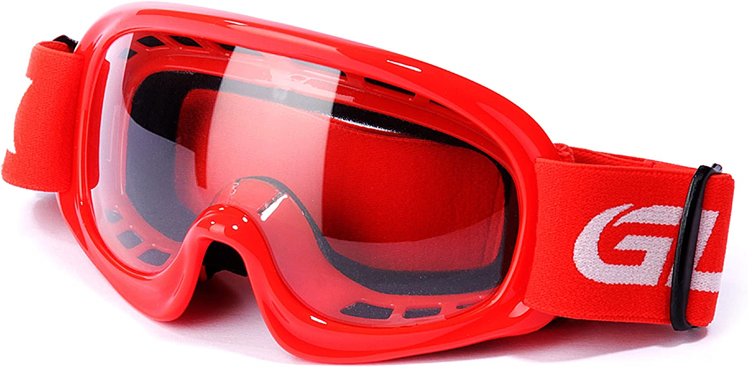 Shatter-Proof Red GLX GX08 youth /& kids Motocross//ATV//Dirt Bike//Airsoft Safety Goggles UV Protection - Anti-Fog ANSI Z87.1 Certified
