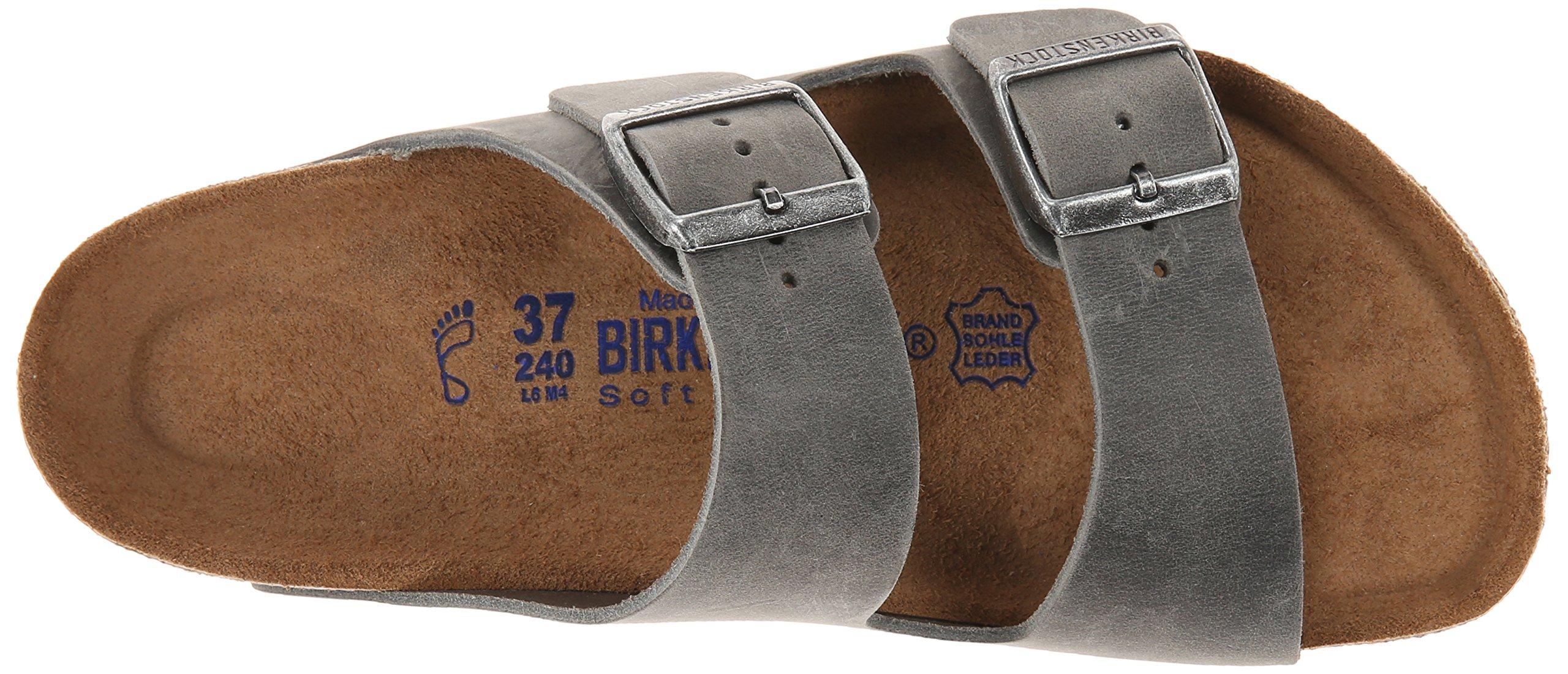 Birkenstock Unisex Arizona Iron Oiled Leather Sandals - 45 M EU/12-12.5 B(M) US Men by Birkenstock (Image #8)