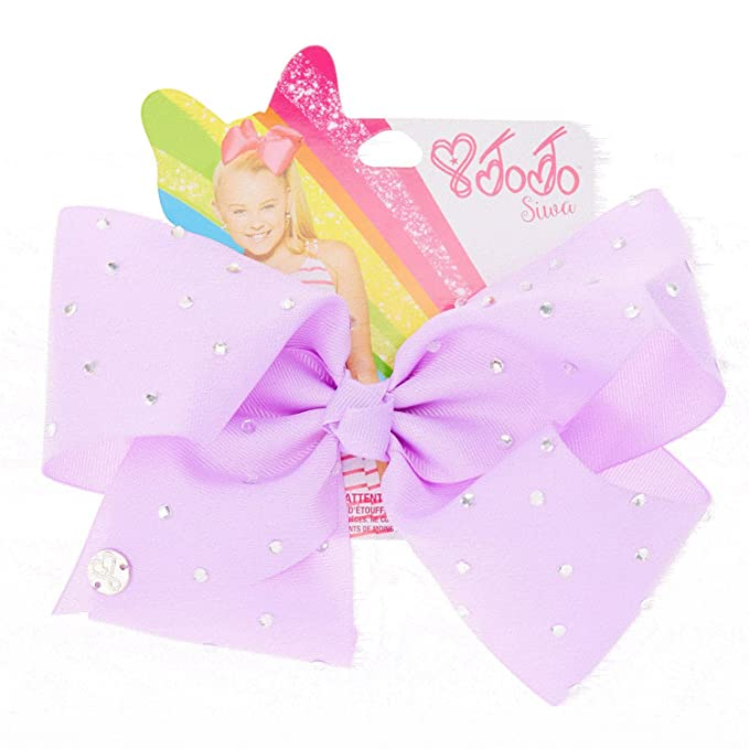 d812fbdef91f Image Unavailable. Image not available for. Color: JoJo Siwa Rhinestone  Purple Large Signature Hair Bow ...