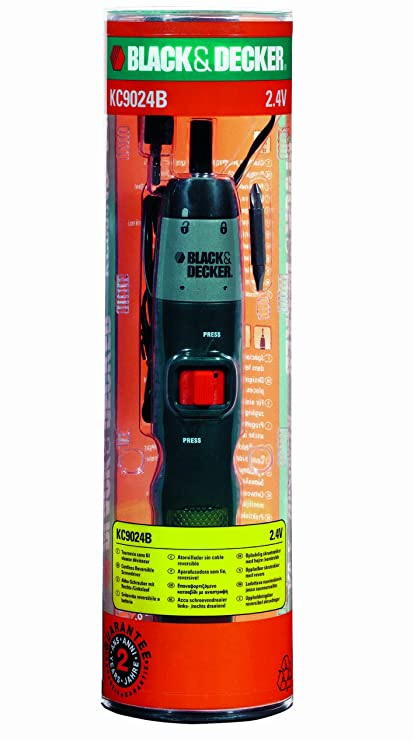 Black+Decker KC9024B - Atornillador sin cable 2,4 V, color negro ...