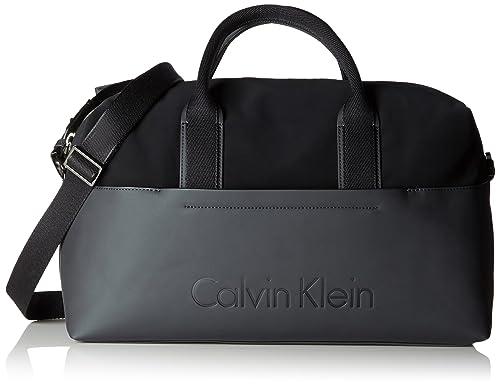 Calvin Klein - Susi3 Medium Gym Bag, cartera Mujer, Schwarz (Black),