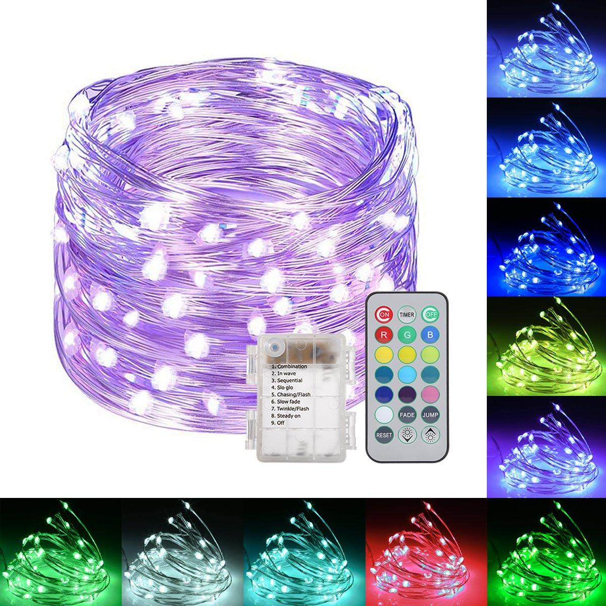 Smart&green Lighting String Lights, S&G Fairy Lights Waterproof Dimmable/Timmer Decorative Lights for Garden Patio (Model 7)