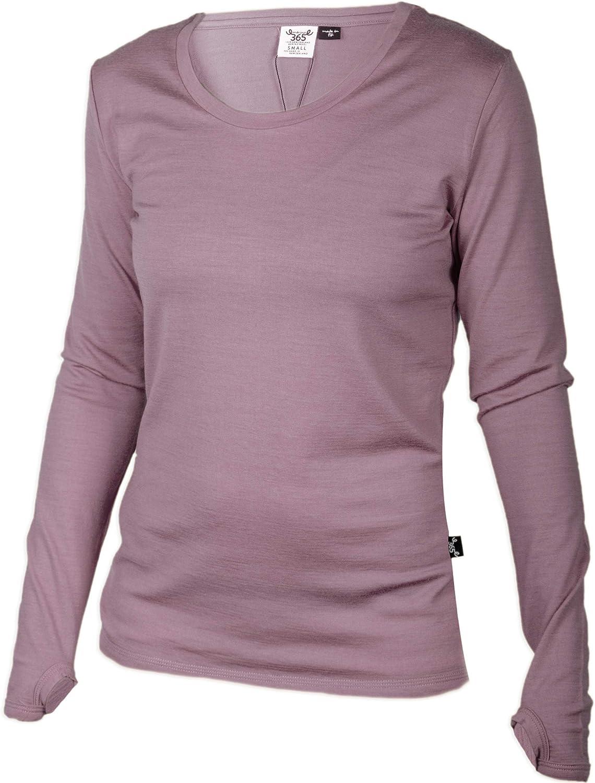 Merino 365 - Camiseta de Manga Larga para Mujer (Merino, Nueva Zelanda): Amazon.es: Deportes y aire libre