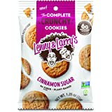 Lenny & Larry's The Complete Crunchy Cookies, Cinnamon Sugar, 6g Vegan Protein, 1.25oz Single Serve Bags, 12 Count