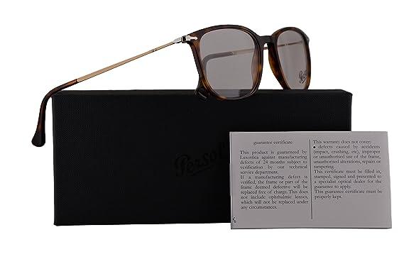 6daa0c23d8730 Amazon.com  Persol PO3146V Eyeglasses 53-19-140 Havana w Demo Clear ...