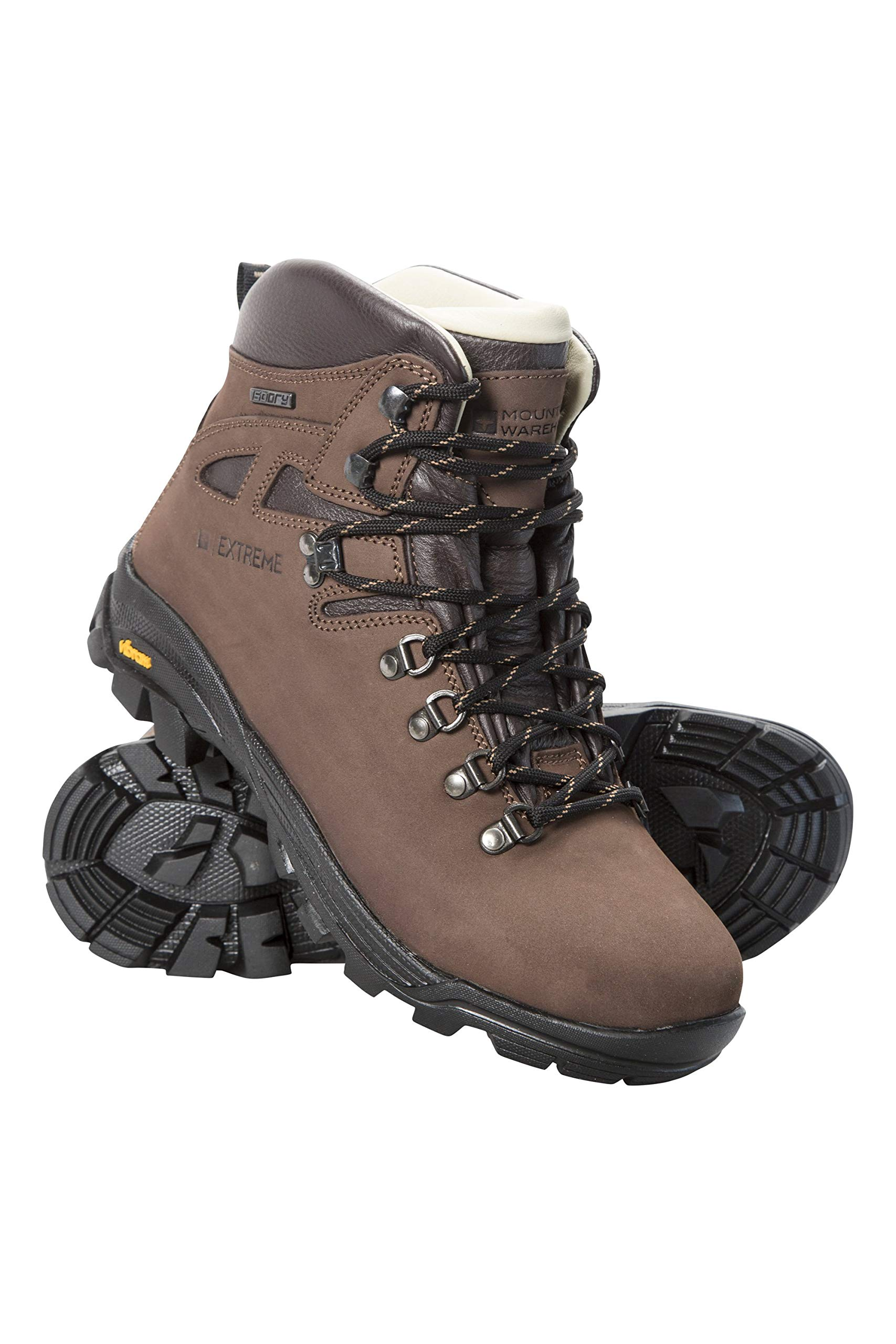 Mountain Warehouse Excalibur Womens Boots -Vibram Hiking Shoes Brown Womens Shoe Size 9 US by Mountain Warehouse