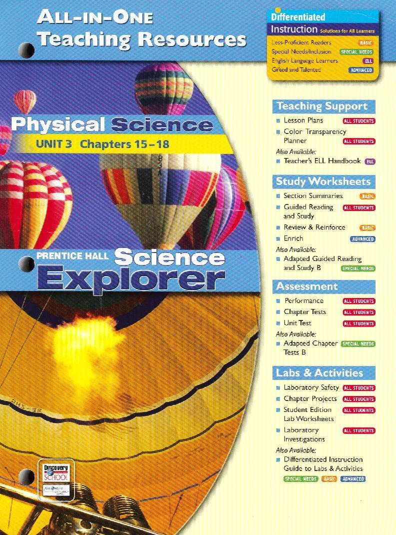 Workbooks physical science guided reading and study workbook : All in One Teaching Resources Physical Science (Prentice Hall ...