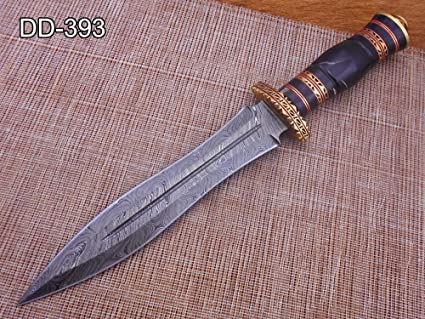 Amazon.com : 13 Inches long custom made Hand Forged Damascus ...