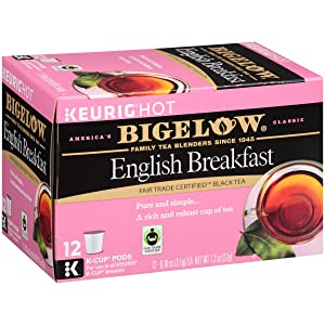 Bigelow English Breakfast Black Tea Keurig K-Cups, Box of 12 Cups (Pack of 6), 72 K-Cups Total, Single Serve Portion Premium Tea in Pods, Compatible with Keurig and other K Cup Coffee and Tea Brewers