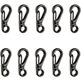 SWATOM Mini SF Alloy Carabiner Clip Tiny Spring Snap Hook Carabiners for Backpack Camping Bottle Using Keychains…