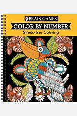 Color by Number Orange (Brain Games - Color by Number) Spiral-bound