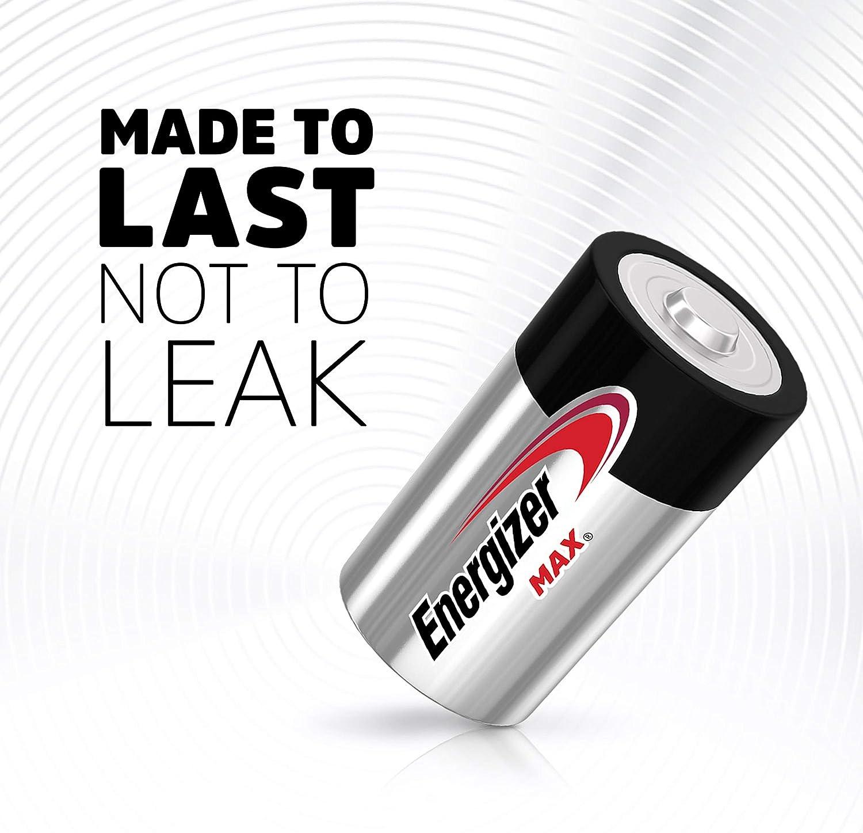 Energizer Max D Batteries Premium Alkaline D Cell Batteries 2 Battery Count