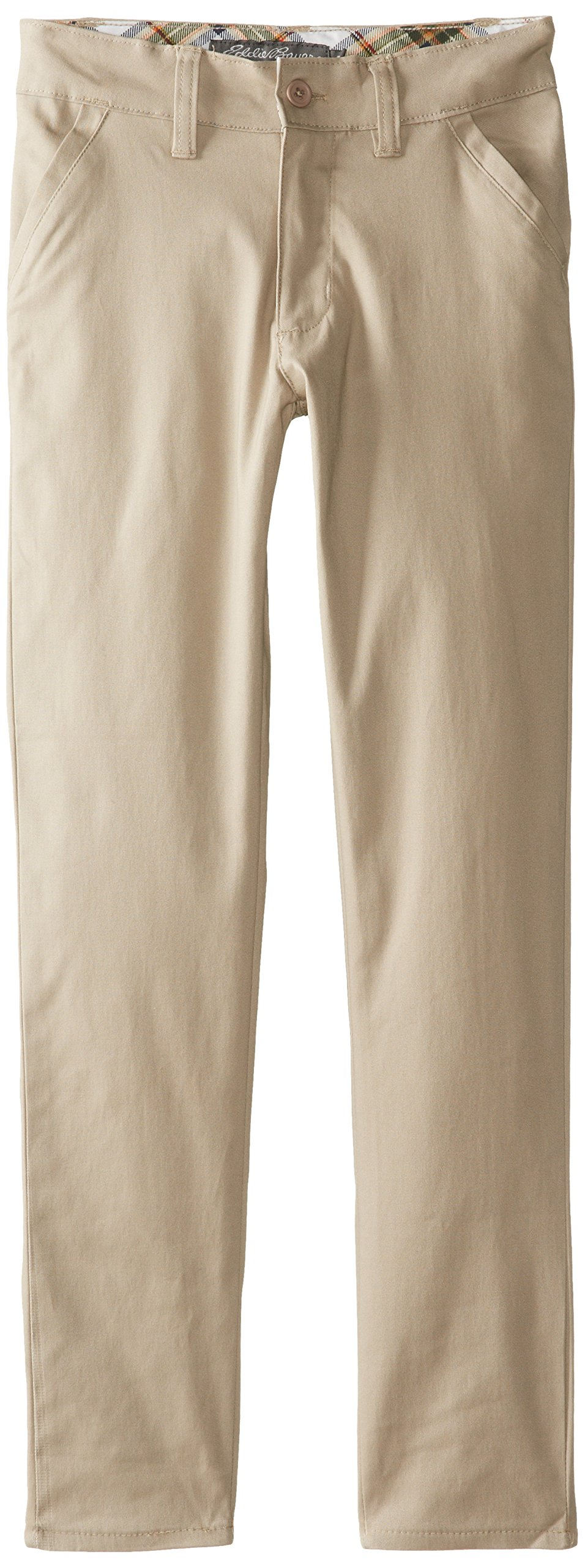 Eddie Bauer Girls' Twill Pant (More Styles Available), Soft Khaki, 16