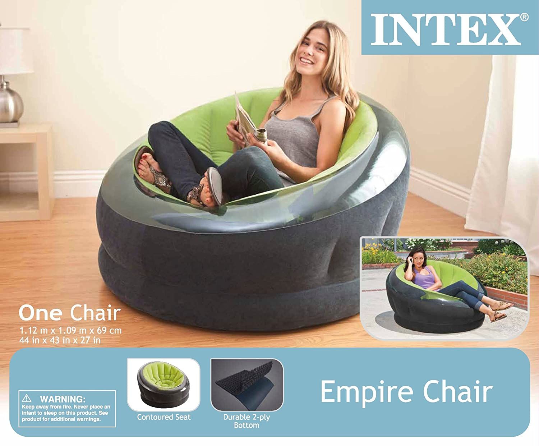 intex inflatable lounge chair. Amazon.com: Intex Empire Inflatable Chair, 44\ Lounge Chair T