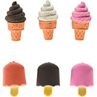 48 Adorable Ice Cream Cone & Frozen Treat Erasers; Kids Party Favors!! (Assorted Colors, 1) by Sweet Treats