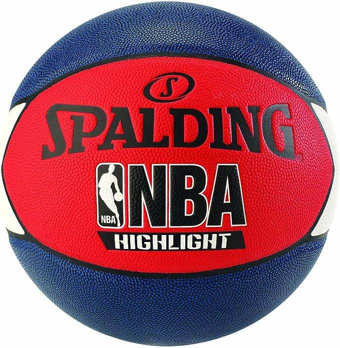 Spalding NBA Highlight Outdoor 83-573Z Balón de Baloncesto, Unisex ...
