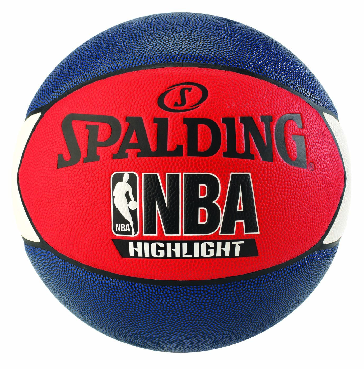 Spalding NBA Highlight Ball Basketball schwarz/Silber 7 SPAPO|#Spalding 3001550029617