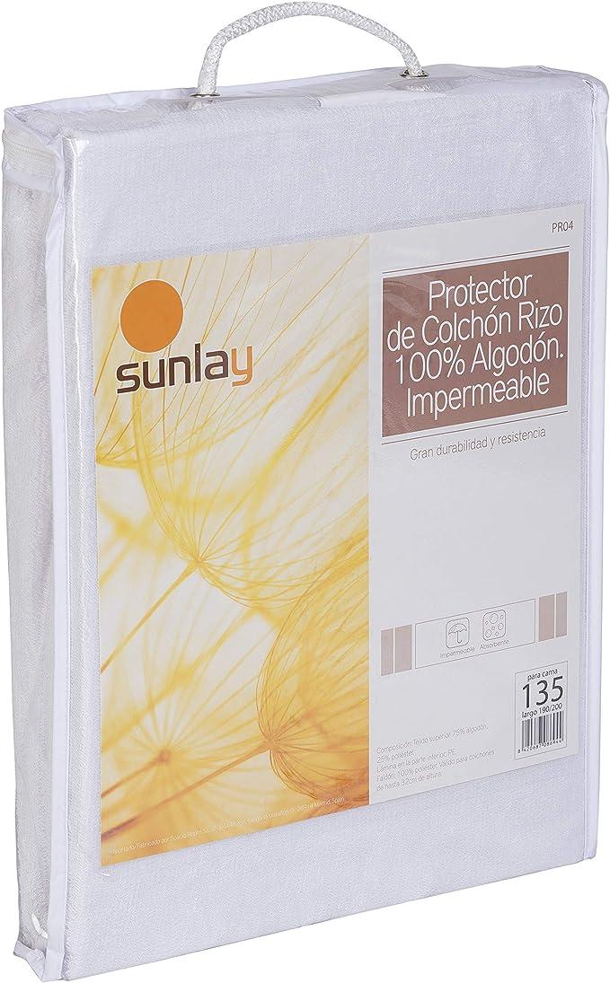 Sunlay Prot/ège-matelas imperm/éable et respirant 80x190//200cm-Lit 80 tissu /éponge