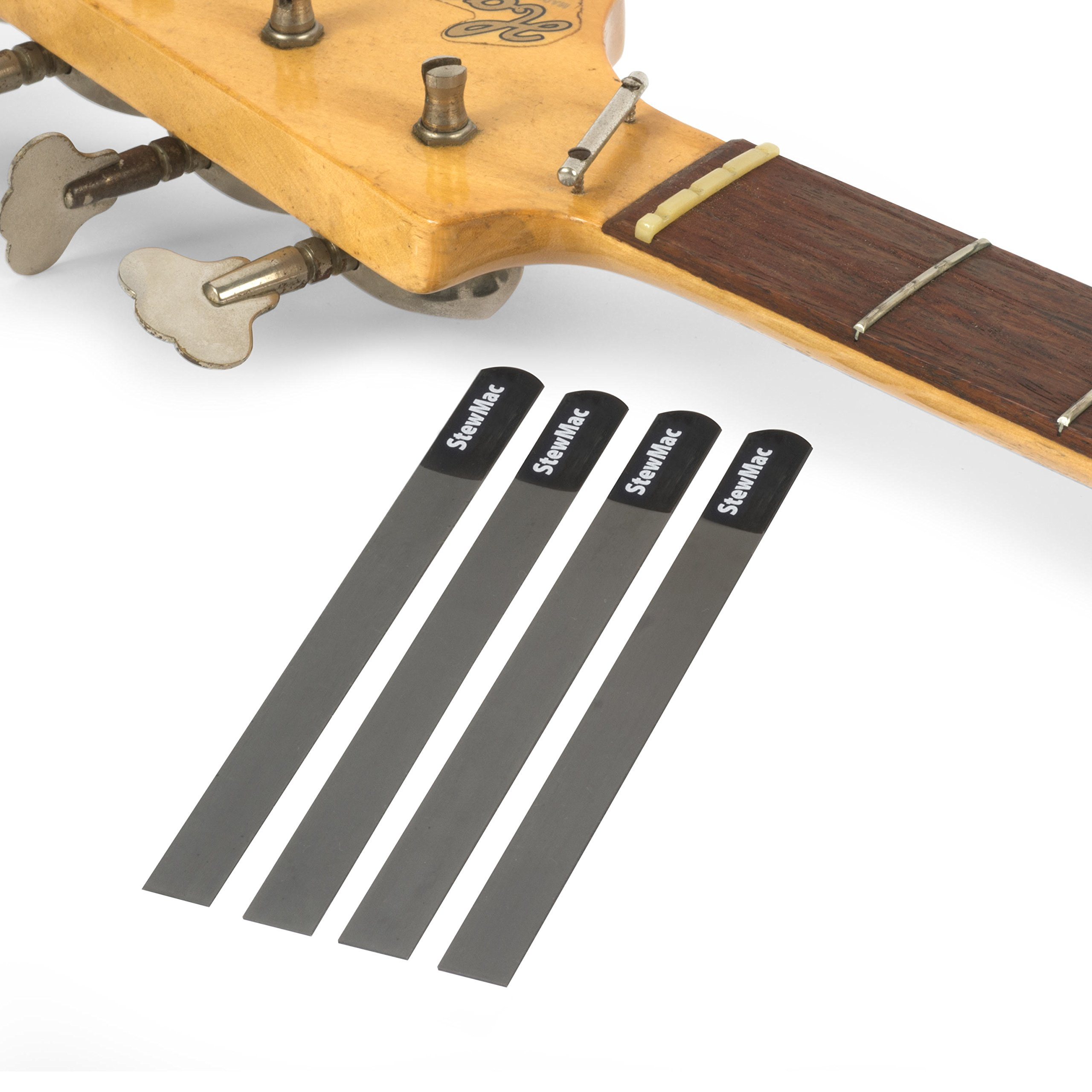 StewMac Gauged Nut Slotting File Set for Bass, for 4-String - Set of 4