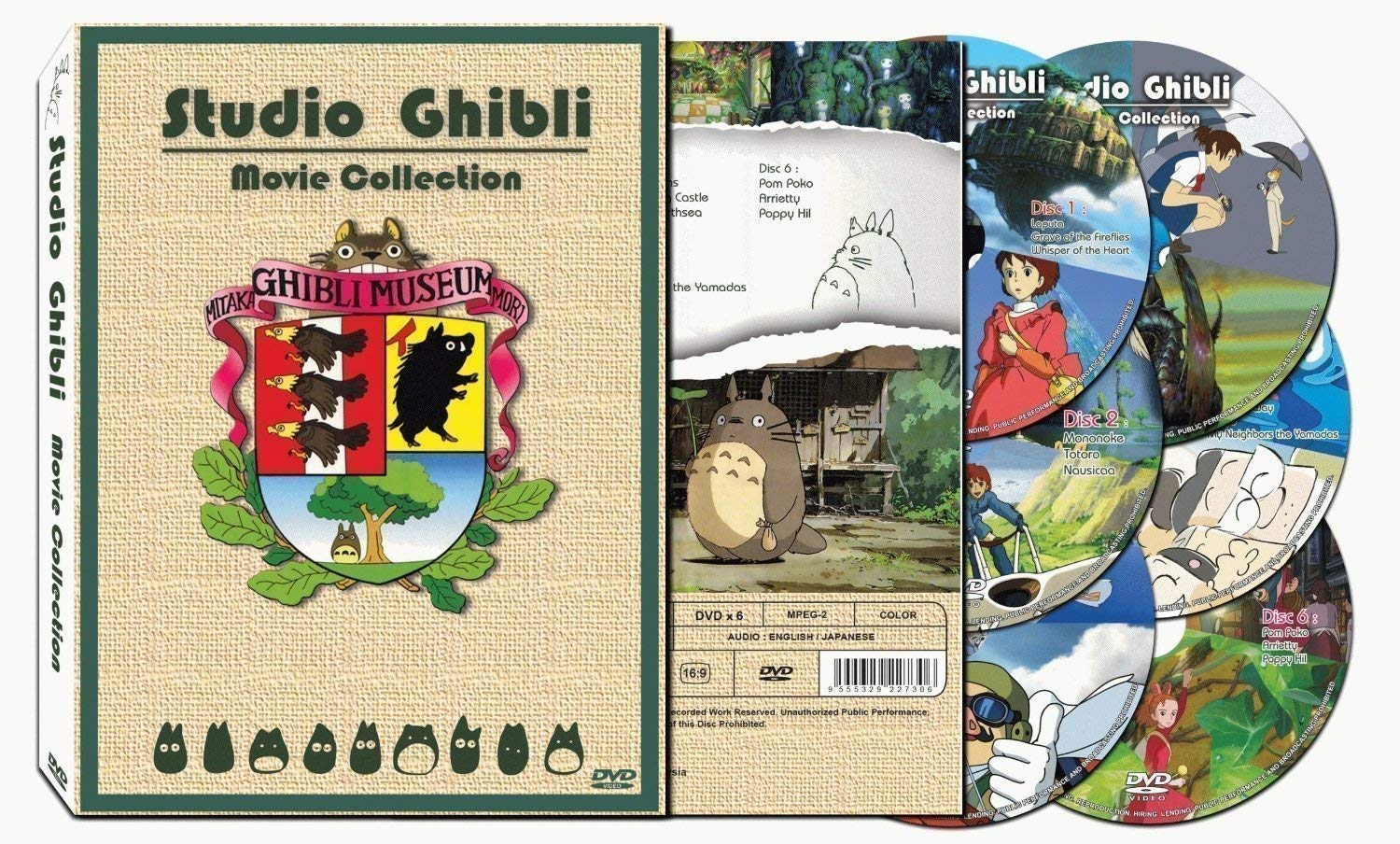 Studio Ghibli Hayao Miyazaki Films Deluxe 17 Best Movie Collection English Box Set (6 DVD)
