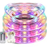 Senbao 17ft 50 LED Dimmable Rope Lights, Battery Powered, Waterproof, 8 Modes/Timer, Fairy Lights for Garden Patio Party Christmas Thanksgiving Outdoor Decoration (Multicolor)