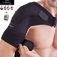 Zenkeyz Shoulder Brace for Men and Women | Compression Support for Torn Rotator Cuff and Other Shoulder Injuries | Left or Right Arm (Black, Small/Medium)