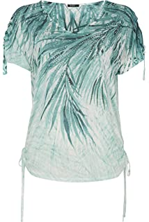 fc3f9848bd541 Roman Originals T-Shirt Motif Floral Tropical Confortable Manches Courtes  Vert