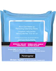 Neutrogena All in One Makeup Remover Cleansing Face Wipes, Alcohol Free Facial Wipes, 50 Count