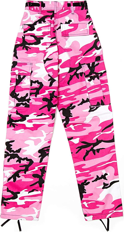 Mens Pink Camouflage Military BDU Pants Cargo Fatigues Fashion Trouser Camo Bottoms 71RFpjGz05L