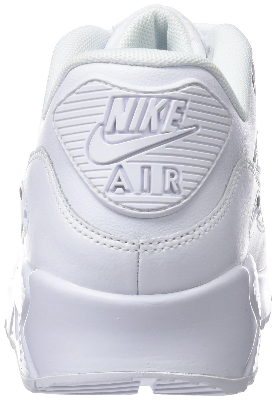 NIKE Gymnastikschuhe, Damen Air Max 90 Gymnastikschuhe, NIKE Weiß (Weiß/Weiß/Weiß 133) be0a8d