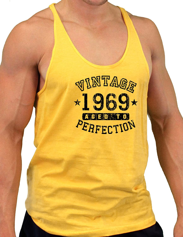 Vintage Birth Year Mens String Tank Top Brand TooLoud 1969