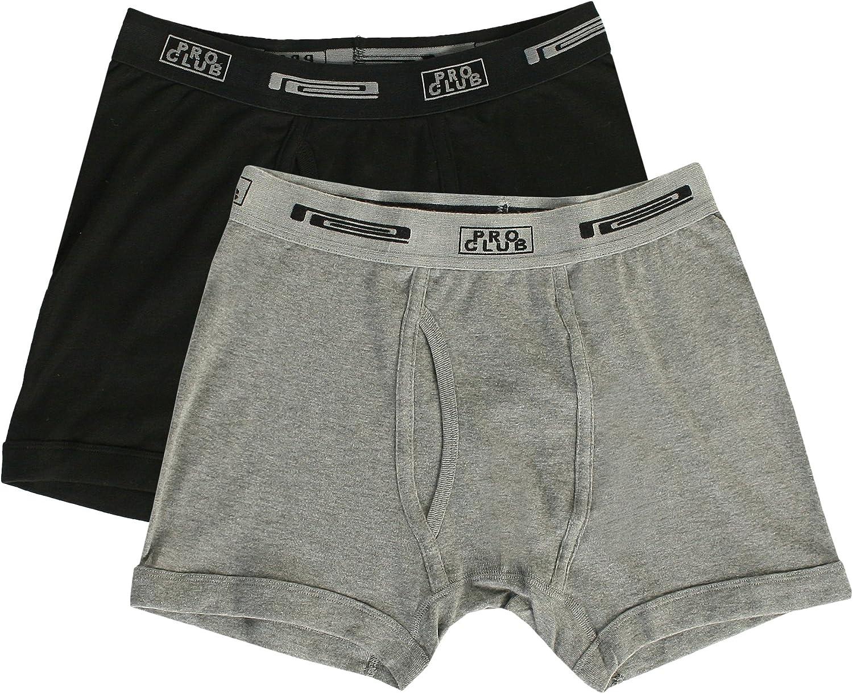 Pro Club Men's 2-Pack Comfort Soft Cotton Boxer Brief
